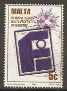 MALTE    -   1996 .   Y&T N° 961 Oblitéré.    Industrie