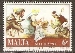 MALTE    -   1997 .   Y&T N° 999 Oblitéré.    Noël   /   Nativité   /  Bergers