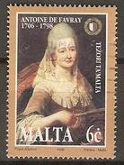 MALTE    -   1998 .   Y&T N° 1008 Oblitéré.    Antoine De Favray