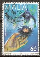 MALTE    -   1998 .   Y&T N° 1018 Oblitéré.    Oursin