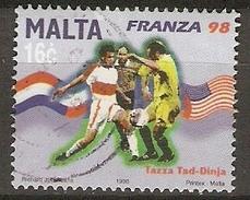 MALTE    -   1998 .   Y&T N° 1022 Oblitéré.    Football   /  France 98
