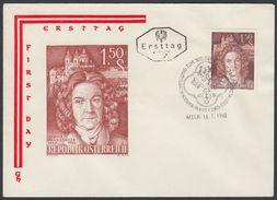 "Austria 1960, FDC Cover ""Jakob Prandtauer"" W./postmark ""Melk"", Ref.bbzg"