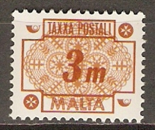MALTE    -   Taxe   -   1973 .   Y&T N° 42 *.   Dentelle
