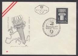 "Austria 1960, FDC Cover ""Europa"" W./postmark ""Salzburg"", Ref.bbzg"
