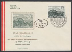 "Austria 1960, FDC Cover ""40th Anniversary Of The Plebiscite In Carinthia"" W./postmark ""Klagenfurt"", Ref.bbzg"