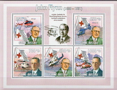 Guinea-Bissau MNH John Flynn Sheetlet And SS - Henry Dunant