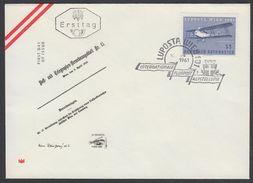 """Austria 1961, FDC Cover """"Stamp Exhibition LUPOSTA"""" W./postmark """"Wien"""", Ref.bbzg"""