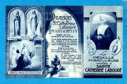 Image Pieuse 3 Feuillets - * LA MEDAILLE MIRACULEUSE Confiée à SAINTE CATHERINE LABOURE * - Edite  Les Filles De Charité - Santini