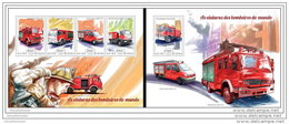 GUINEA BISSAU 2014 ** M/S + S/S Fire Engines Feuerwehr Fahrzeuge Voitures Des Pompiers Viaturas Dos Bombeiros A1448
