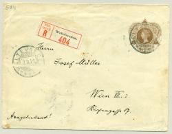 Nederlands Indië - 1911 - 15 Cent Wilhelmina In Driehoek, G22 Echt Gebruikt Als R-cover Naar Wien / Österreich
