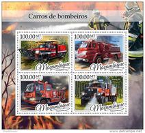 MOZAMBIQUE 2016 ** Fire Trucks Feuerwehr LKW Camions De Pompiers M/S - OFFICIAL ISSUE - A1702