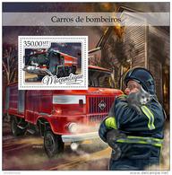 MOZAMBIQUE 2016 ** Fire Trucks Feuerwehr LKW Camions De Pompiers S/S - OFFICIAL ISSUE - A1702