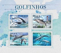 Mozambico 2016, Animals, Dolphins, Lighthouses, 4val In BF