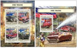 SIERRA LEONE 2016 ** Fire Trucks Feuerwehr Fahrzeuge Camions De Pompiers M/S+S/S - IMPERFORATED - A1704