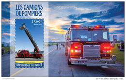 NIGER 2016 ** Fire Trucks Feuerwehr Fahrzeuge S/S - OFFICIAL ISSUE - A1622