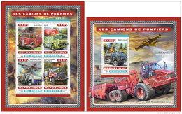 NIGER 2016 ** Fire Engines Feuerwehr Fahrzeuge Camions De Pompiers M/S+S/S - OFFICIAL ISSUE - A1706