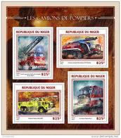 NIGER 2016 ** Fire Trucks Feuerwehr Fahrzeuge Camions De Pompiers M/S - OFFICIAL ISSUE - A1644