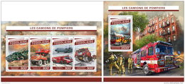 TOGO 2016 ** Fire Engines Feuerwehr Fahrzeuge Camions De Pompiers M/S+S/S - IMPERFORATED - A1701