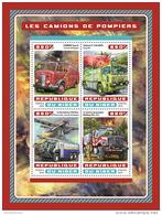 NIGER 2016 ** Fire Engines Feuerwehr Fahrzeuge Camions De Pompiers M/S - OFFICIAL ISSUE - A1706