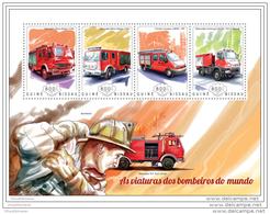 GUINEA BISSAU 2014 ** M/S Fire Engines Feuerwehr Fahrzeuge Voitures Des Pompiers Viaturas Dos Bombeiros A1448