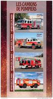 NIGER 2016 ** Fire Trucks Feuerwehr Fahrzeuge M/S - OFFICIAL ISSUE - A1622