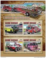 GUINEA BISSAU 2016 ** Fire Engines Feuerwehr Fahrzeuge Camions De Pompiers M/S - OFFICIAL ISSUE - A1632