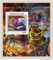 NIGER 2016 ** Fire Trucks Feuerwehr Fahrzeuge Camions De Pompiers S/S - OFFICIAL ISSUE - A1644