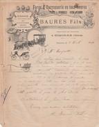 Courrier 1910 BAURES FILS / Fabricant Voiture / Simorre Gers / Art Nouveau - Altri
