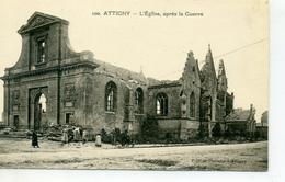 08 - ATTIGNY - L'Eglise, Après La Guerre. - Attigny
