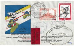 1er VOL CONCORDE - LIMA PEROU (CARACAS PARIS) - 10 Avril 1976