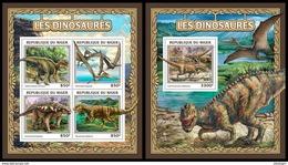 NIGER 2016 - Dinosaurs, M/S + S/S. Official Issue - Prehistorisch