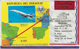 1er VOL CONCORDE - PARAGUAY (RIO PARIS) - 21 Janvier 1976