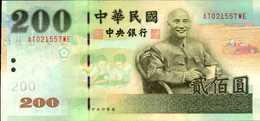 TAIWAN 200 YUAN De 2001  Pick 1992   UNC/NEUF - Taiwan