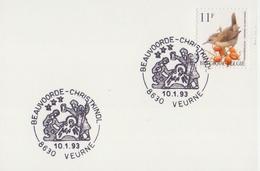 BELGIË/BELGIQUE:Illustr. Date Cancel On Fragment : ## BEAUVOORDE - CHRISTKINDL ## : CHRISTMAS,NOËL,KERSTMIS,CRIB,CRÈCHE,