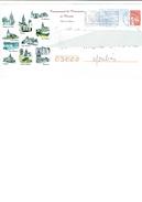 Env. Entier Postale Oblitérée De FRANCE - Communauté De Communes De PIONSAT [Puy Dôme] - églises Des Villages