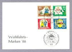 Germany, 1966, Wohlfahrtsmarken Brüder Grimm Grimm Brother Ganzsache Bonn Sonderstempel