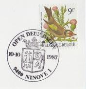 BELGIË/BELGIQUE : Illustr. Date Cancel On Fragment :  ## 10-10-87 : NINOVE : Open Deur Dagen ## : HERALDRY,