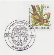 "BELGIË/BELGIQUE : Illustr. Date Cancel On Fragment :  ## 26-09-87 : HERENTALS : 25 Jaar ""Ontspanning"" ## : H - Armoiries"