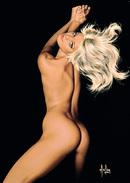 "4"" X 6""  [ 10 X 15 Cm ] Alain Aslan Erotic Pin-up  Postcard & Artcard Fine Nude  Female Naked Sexy Candid Model  AA#005 - Pin-Ups"