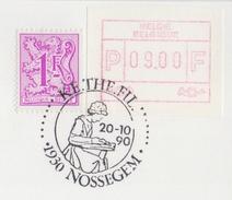 BELGIË/BELGIQUE : Illustr. Date Cancel On Fragment :  ## 20-10-90 : NOSSEGEM : KETHEFIL ## : KANT,DENTELLES,LACES, - Textile