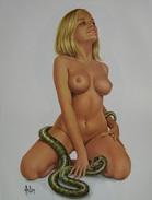 "4"" X 6""  [ 10 X 15 Cm ] Alain Aslan Erotic Pin-up  Postcard & Artcard Fine Nude  Female Naked Sexy Candid Model  AA#015 - Pin-Ups"
