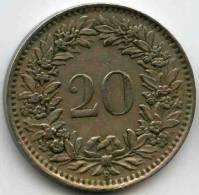 Suisse Switzerland 20 Rappen 1943 B KM 29a - Suiza