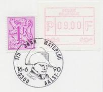 BELGIË/BELGIQUE : Illustr. Date Cancel On Fragment :  ## 16-06-90 : AALST : 175jaar WATERLOO ## : NAPOLEON,