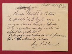 PITTORE LUIGI  CRISCONIO CARTOLINA POSTALE  AUTOGRAFA AL PREMIO DI PITTURA VERSILIA  DEL 1942 - Autógrafos