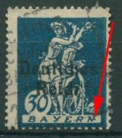 Deutsches Reich 1920 Sog. Abschiedsserie Mit Plattenfehler 123 PF I Gestempelt