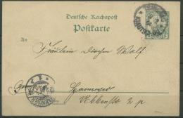 Kiautschou 1901 Postkarte P 1 Gestempelt (X14340)