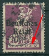 Deutsches Reich 1920 Sog. Abschiedsserie Mit Plattenfehler 122 PF III Gestempelt