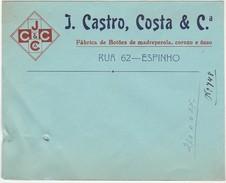 Cover * Portugal * J. Castro, Costa & Cª * Espinho * Holed - Publicités