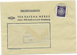 DDR Dienst Brief VEB Rafena Werke Radeberg EF + Propaganda Nationale Front (27)
