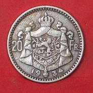 BELGIUM 20 FRANCS 1934 - REPLICA 25MM-5,5GRS   - 2 SCANS - (Nº17831) - Belgium